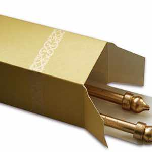 DIY Gold Scroll Rods to create customized messages and invites